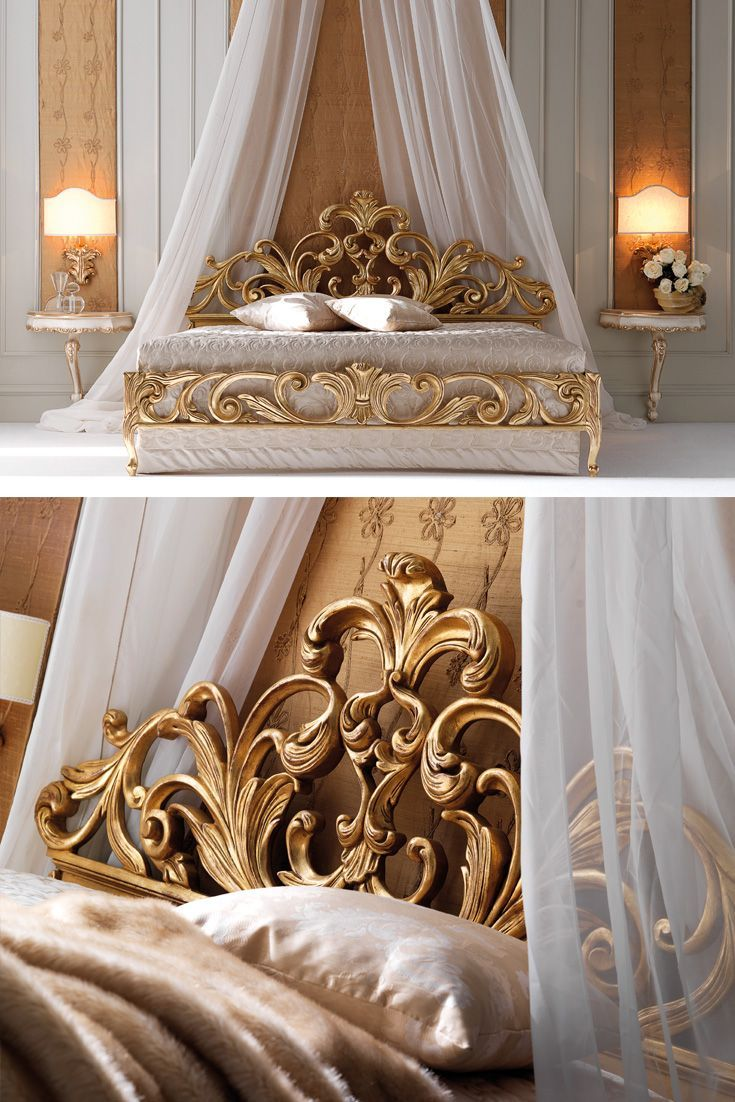 High End Designer Gold Rococo Bed in 2020 Bed linen