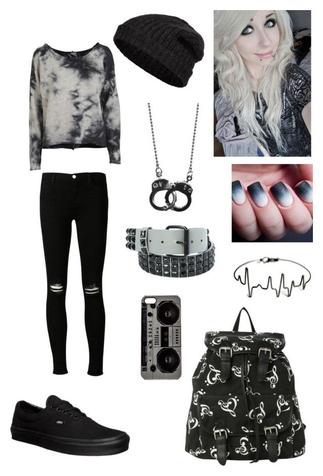"""""""OOTD"""" by xxlittle-emo-princessxx ❤ liked on Polyvore featuring Object Collectors Item, J Brand, Vans, Closed, Zero Gravity, women's clothing, women's fashion, women, female and woman"""