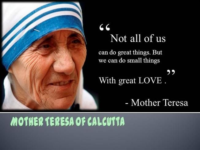 The Best Quote Against Drug Mother Teresa On Charity Quotesgram Essay Biography Biographical Short