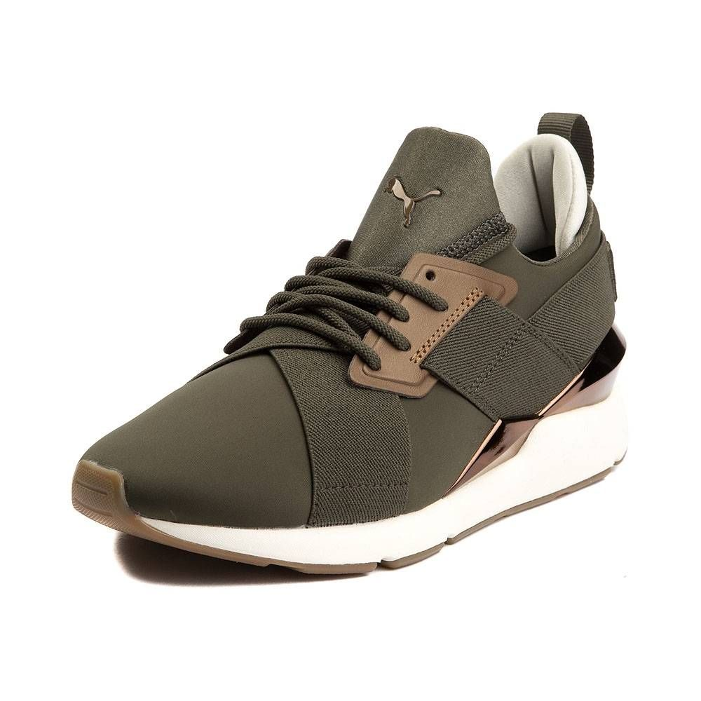 0f01e0c0f0f Womens Puma Muse Metal Athletic Shoe - Olive Bronze - 361818 ...