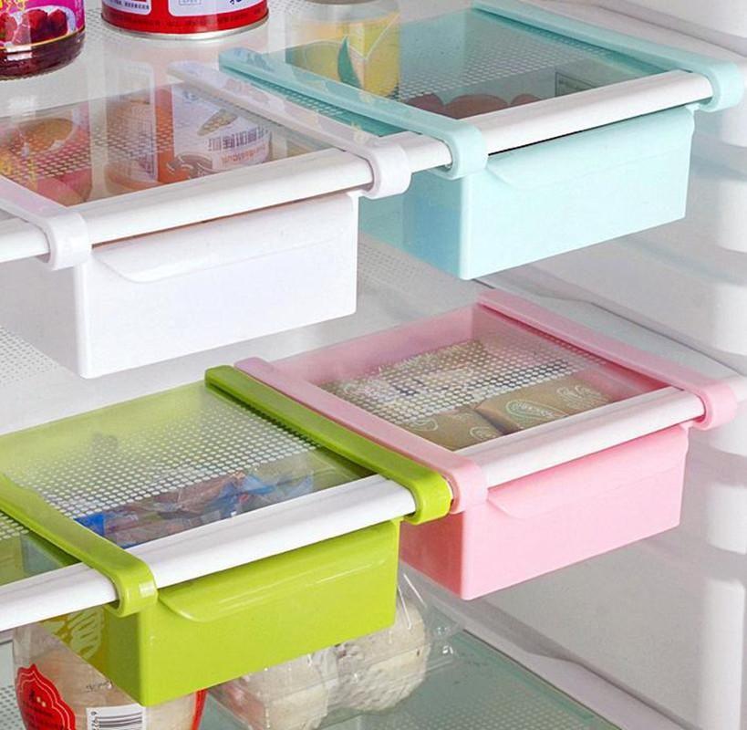 Visit to Buy] Plastic Drawer Storage Fridge Storage Box Spacer Layer ...