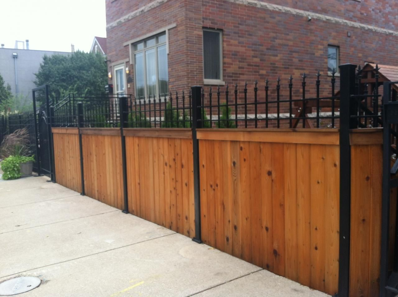 J Franco Steel Porches Wood And Wrought Iron Fences Wood Gate