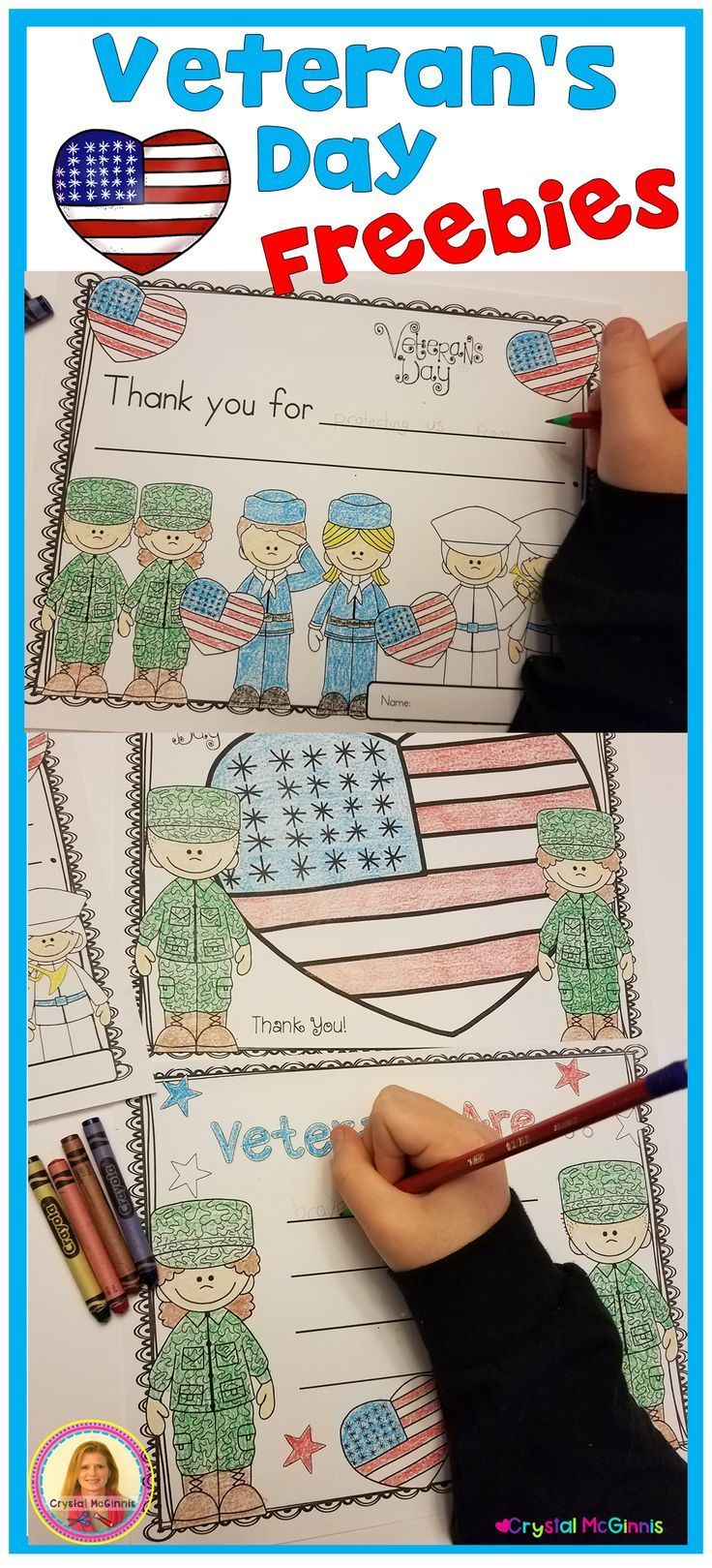 Veteran's Day is a day for us to celebrate and appreciate our Veterans.  Here are a few examples of appreciation cards that we've used to honor veterans. They were simple to create, and each student could choose which card they prefer, depending on their skill level. (Just coloring, coloring & writing) If you will be celebrating our Veterans, you are welcome to use these printables in your classroom. #veteransdayhonoring Veteran's Day is a day for us to celebrate and appreciate our Veterans.  He #veteransdayhonoring