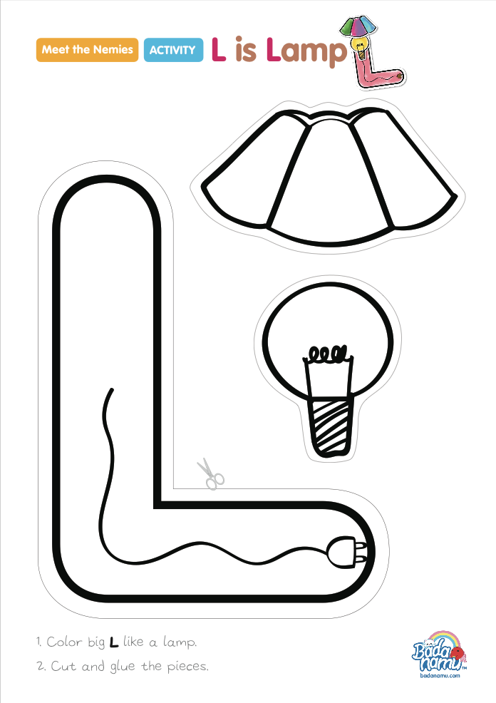 Watch U201cMeet The Nemie L. What Does The Nemie Look Like? Print Your Free L Is  Lamp Craft.