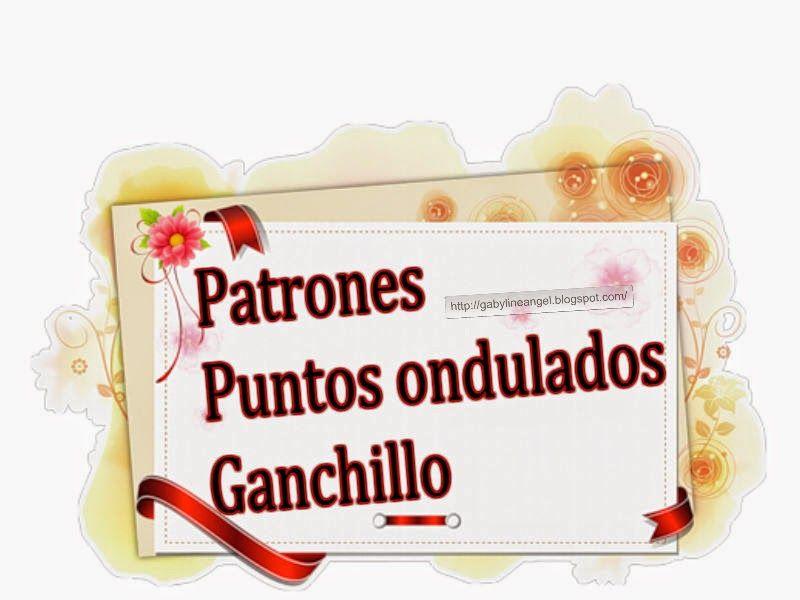 Delicadezas en crochet Gabriela: Patrones de puntos ondulados ...