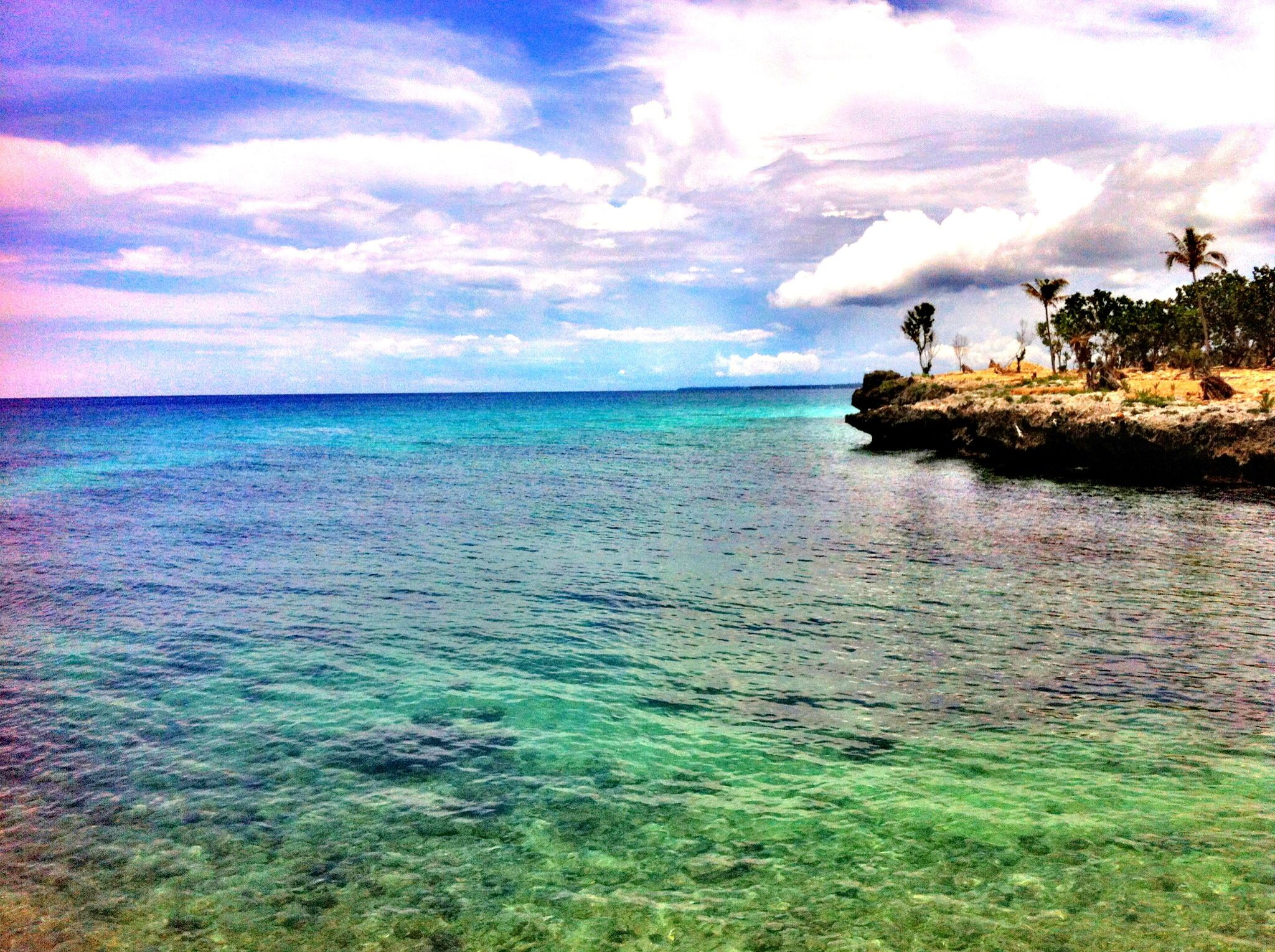A view from the break water of Camotes Island, Cebu, Philippines