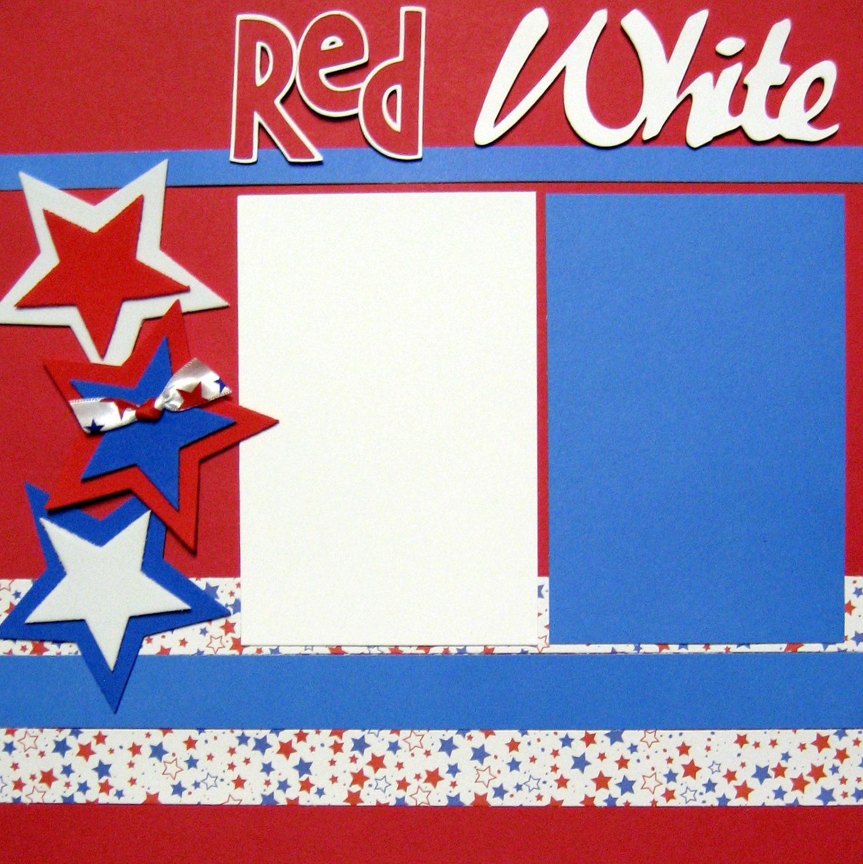 Scrapbooking Layout Fourth of July America USA by upinthenight ...