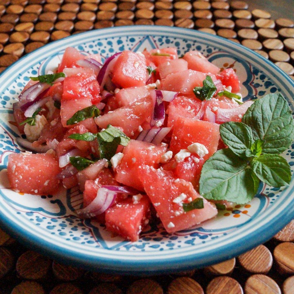 Greek Watermelon with Feta