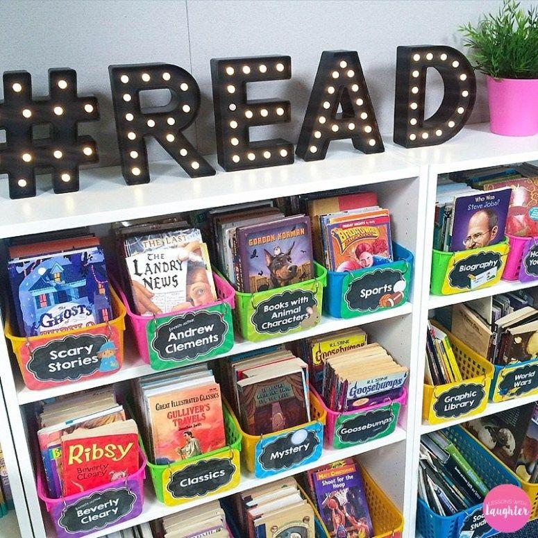 Classroom Library Organization #classroomdecor