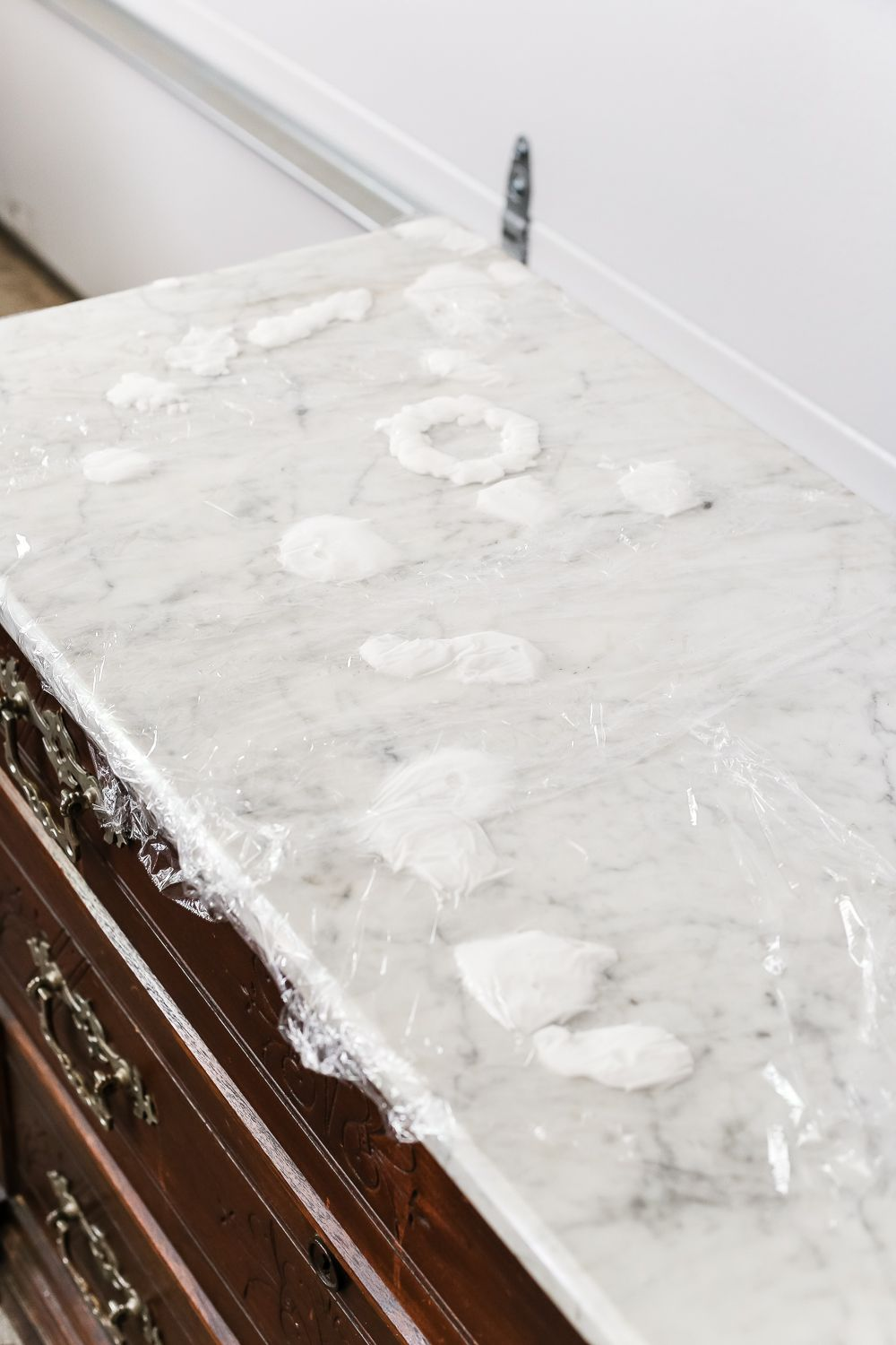 How To Remove Stains From Marble Foyer Chest Makeover Blesserhouse A Quick And Simple Tutorial For Removing White Using Kitchen