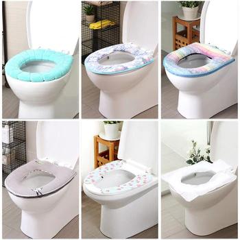 Toilet Seat Cover Mat Soft Warmer Closestool Cushion Washable