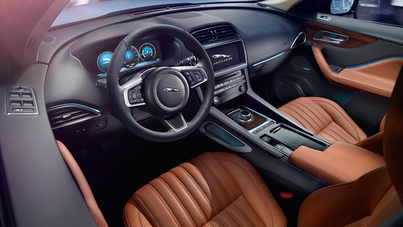 Jaguar F Pace Portfolio Driver Side Interior Jaguar Suv Jaguar Car Jaguar