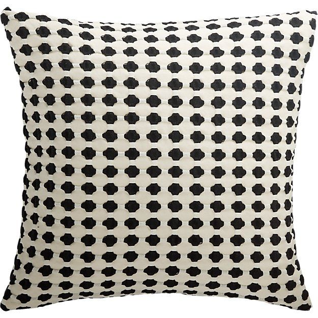 20 Quot Estela Black And White Pillow Black And White