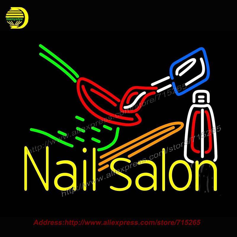 Resultado de imagen para belleza ali nail logo Logo neon