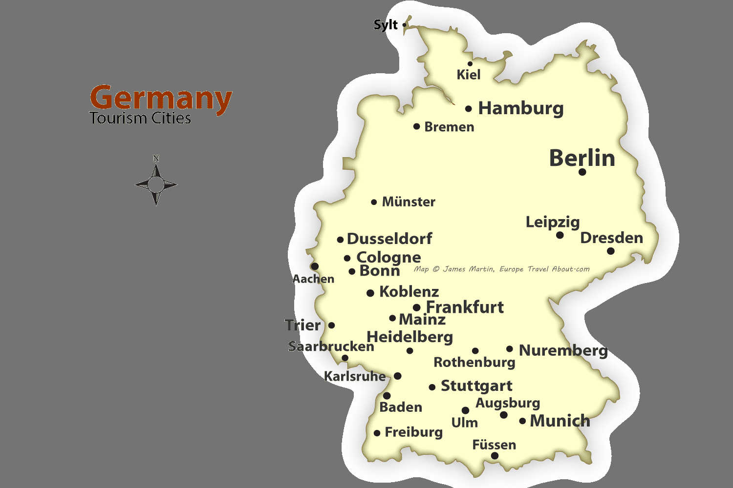 The Best Cities to Visit in Germany | Rail pass, City maps and City