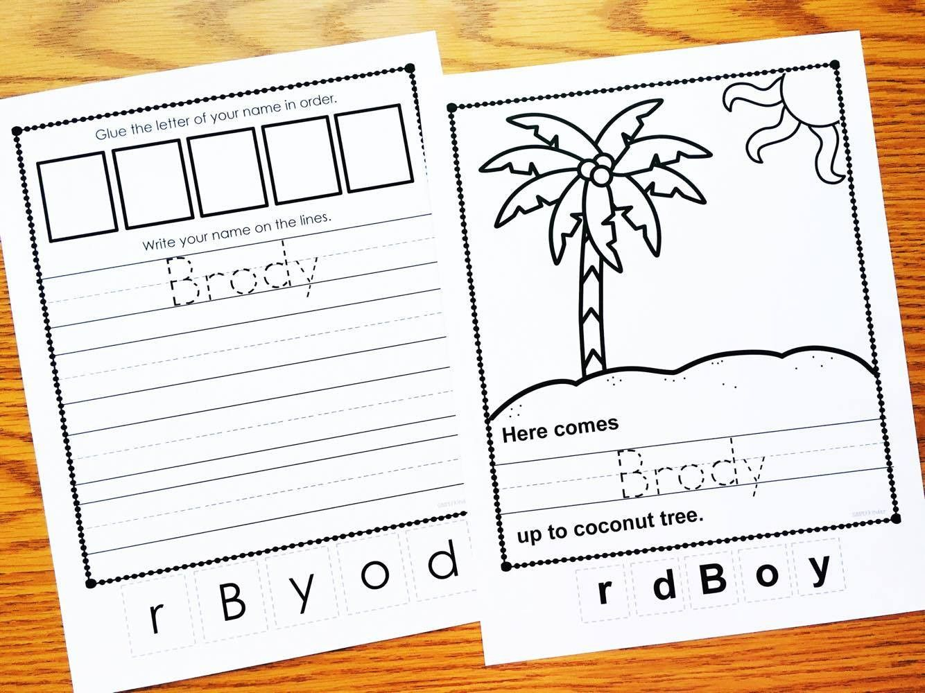 3 Winter Worksheets For Preschool Free Clothespin Name