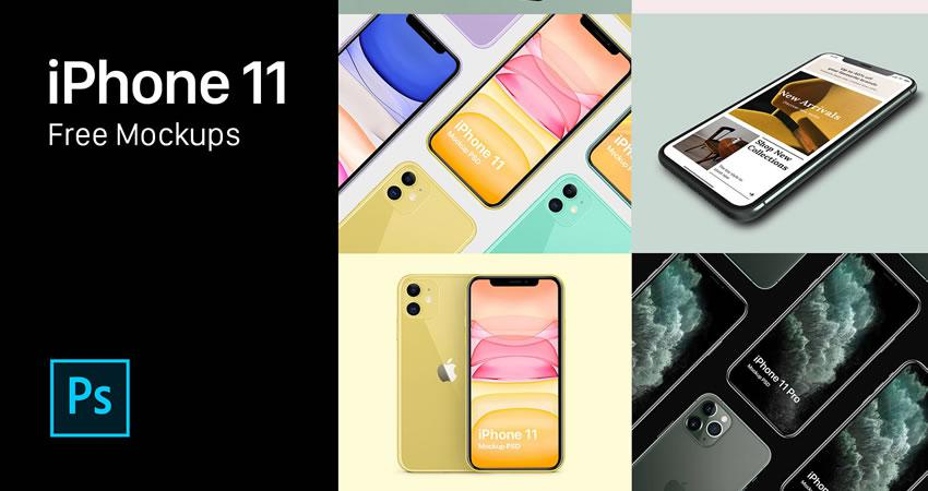 25 Free iPhone Mockup PSD Templates in 2020