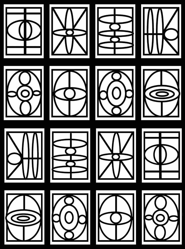 coloring pages geometric staind glass - photo#12