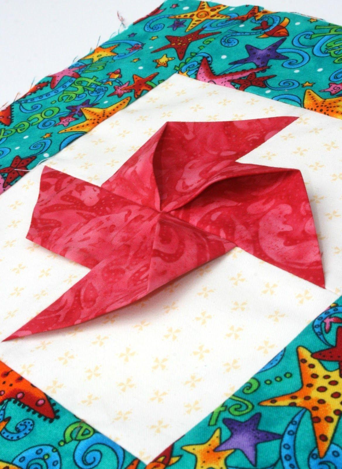 3D Pinwheel Quilt Block | Courtepointe - Origami | Pinwheel
