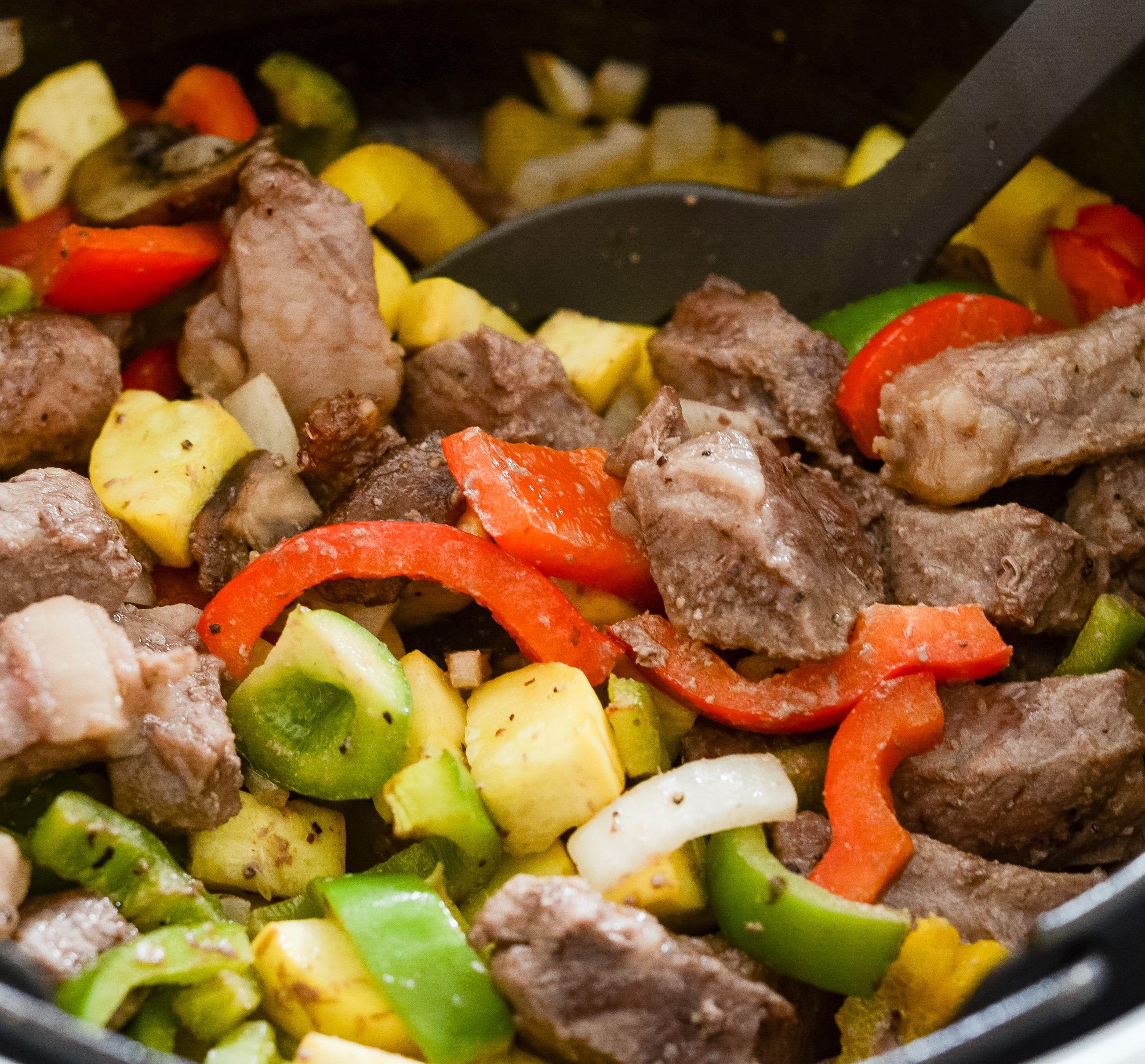 Ninja Foodi Steak and Vegetable Bowls Recipe Air fryer