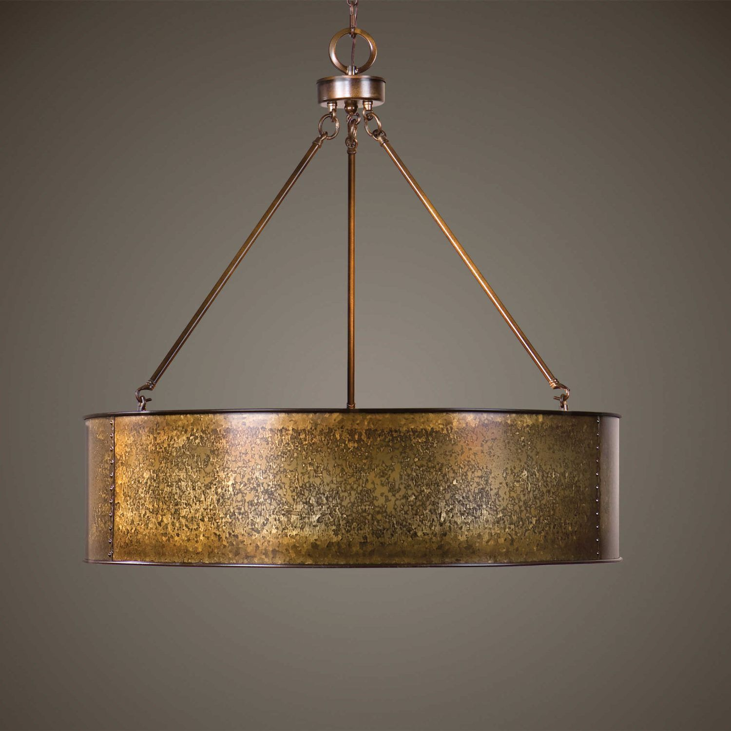wolcott gold five light pendant uttermost drum pendant lighting ceiling lighting wolcott 5 light golden pendant   u201cthis bronzed silver metal in this      rh   pinterest