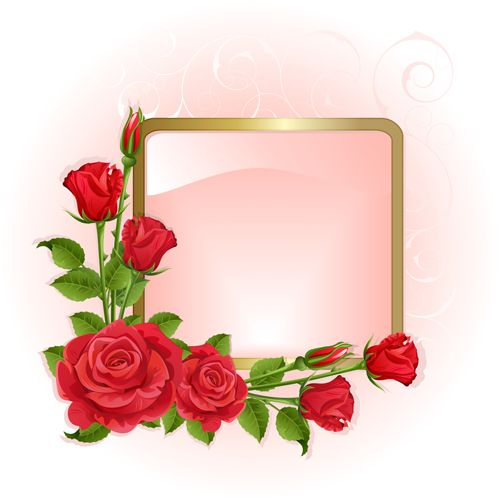 red peonies photo frame vector clipart pinterest red