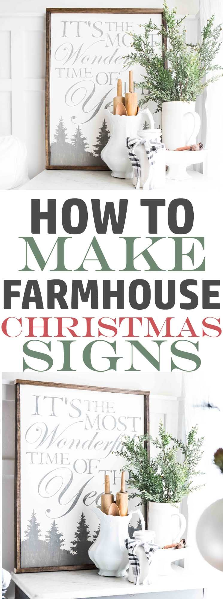 How to make a farmhouse christmas signitus the most wonderful time