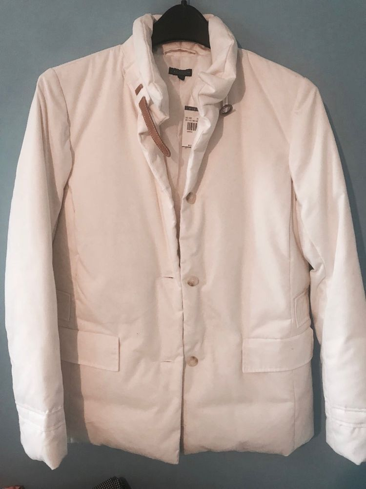 f0ff7780c2a J MCLAUGHLIN White Down Jacket Womens Small  fashion  clothing  shoes   accessories