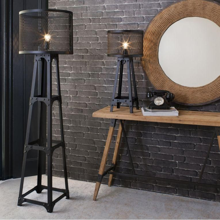 lampadaire industriel vintage en 20 id es de d co d. Black Bedroom Furniture Sets. Home Design Ideas