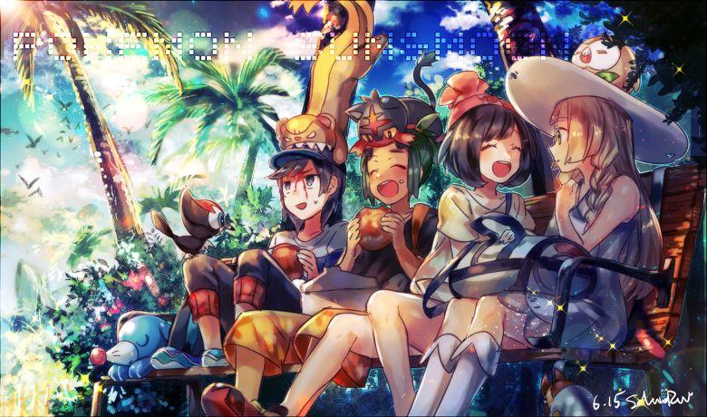 Naru (Andante), Pokémon, Hau (Pokémon), Rowlet, Wimpod, Male Protagonist (Pokemon Sun/Moon)