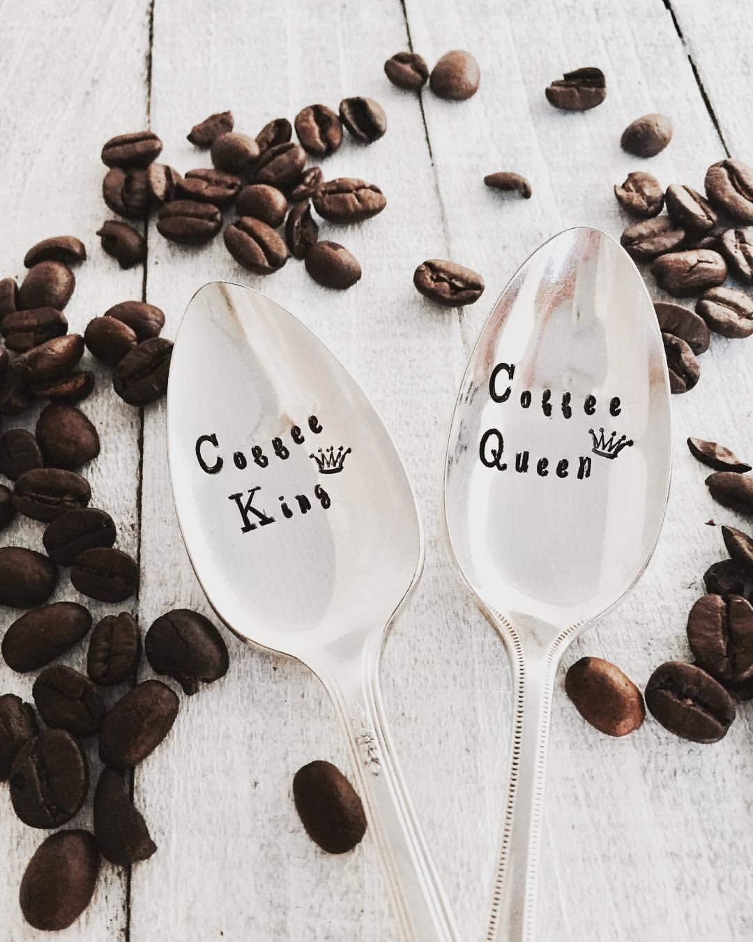 """16 Likes, 1 Comments - Patricia M. (@thepaperspoon) on Instagram: """"Kind of obsessed with this His & Hers coffee spoon set! ☕️🥄☕️🥄 #coffeelover #coffee #inthekitchen…"""""""