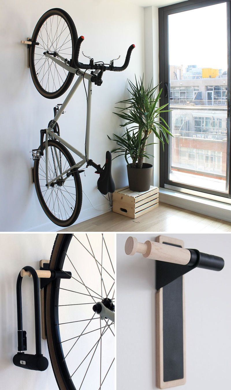Put Your Bike On Display With These Wall Mounted Bike Racks Bike Rack Wall Wall Mount Bike Rack Diy Bike Rack