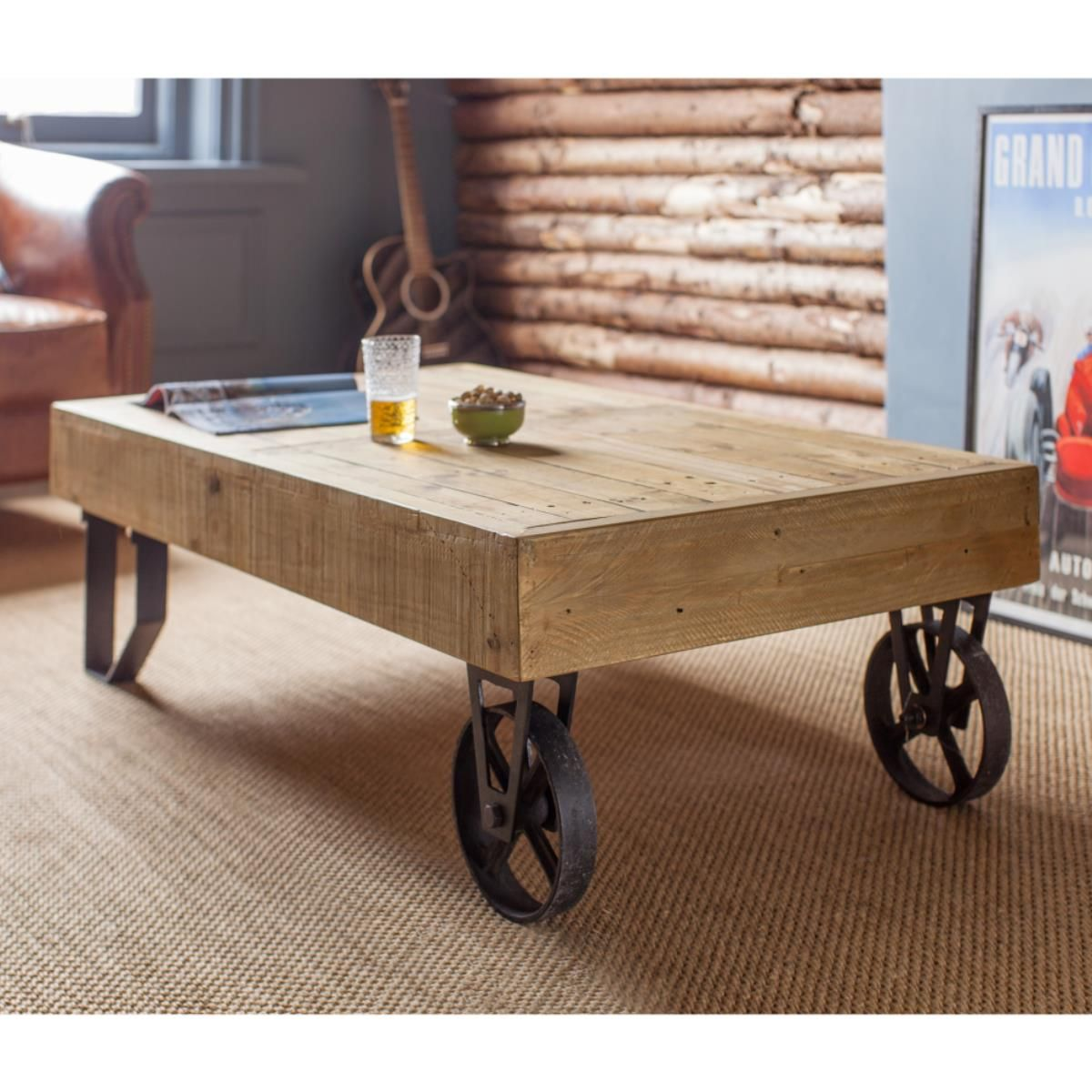 Quirky Tables Stonemill Cart Coffee Table Quirky Design With Railway