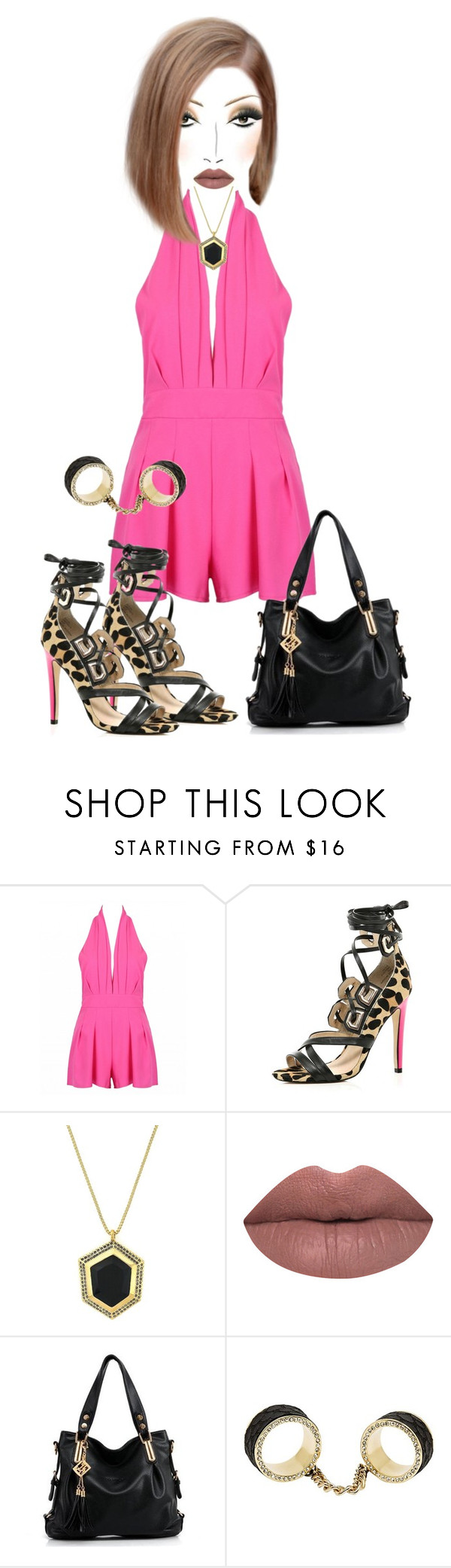 """""""Untitled #4628"""" by cristalabron ❤ liked on Polyvore featuring River Island, Vince Camuto, LASplash and CC SKYE"""