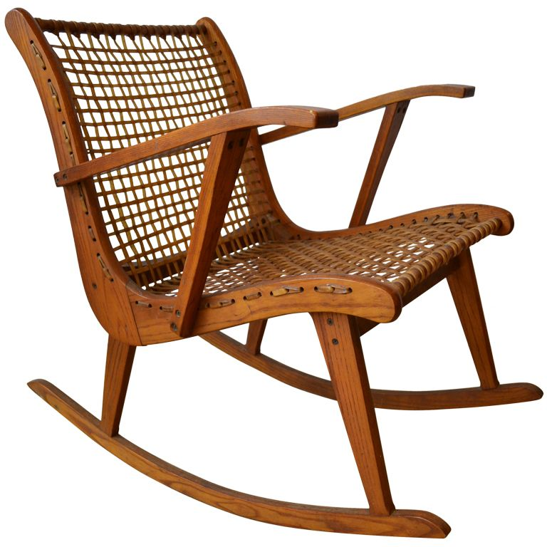 Mid Century Tubbs Vt Rocking Chair