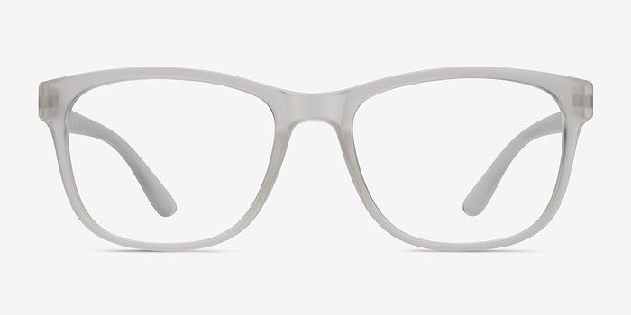 Milo Frosted Clear Plastic Eyeglasses from EyeBuyDirect. A ...