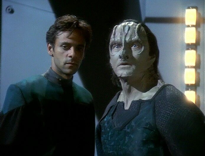 Alexander Siddig and Andrew Robinson as Dr. Julian Bashir and Elim ...