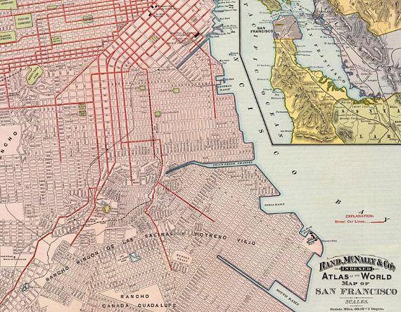 Vintage map of san francisco instant digital download1897 maps vintage map of san francisco instant digital download1897 gumiabroncs Image collections
