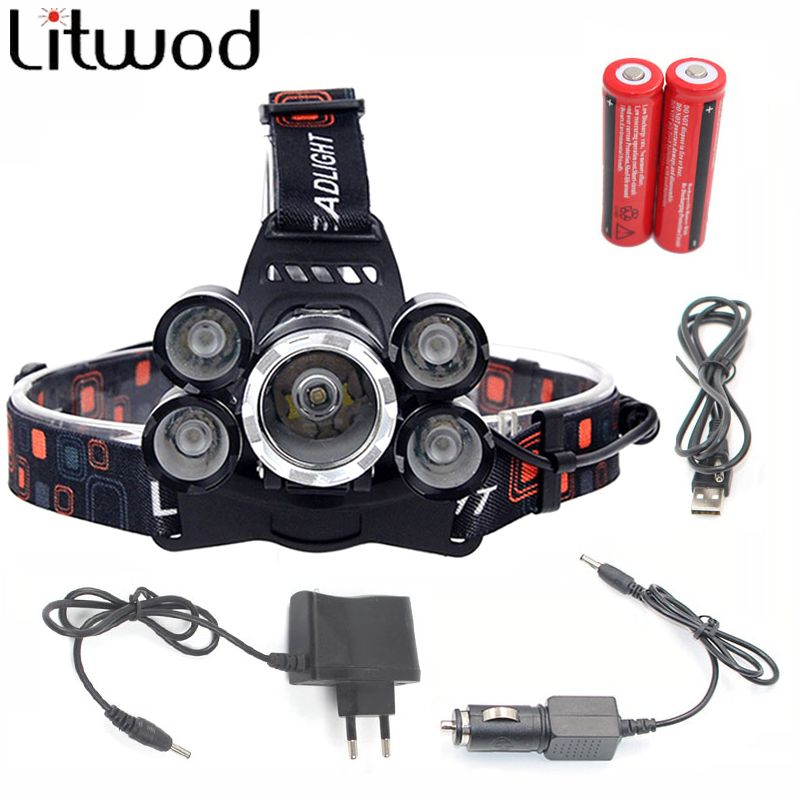 Lumen 5 Xml Headlamp Powerful T6 Led 12000 Chips Headlight Z30 q543jLcAR