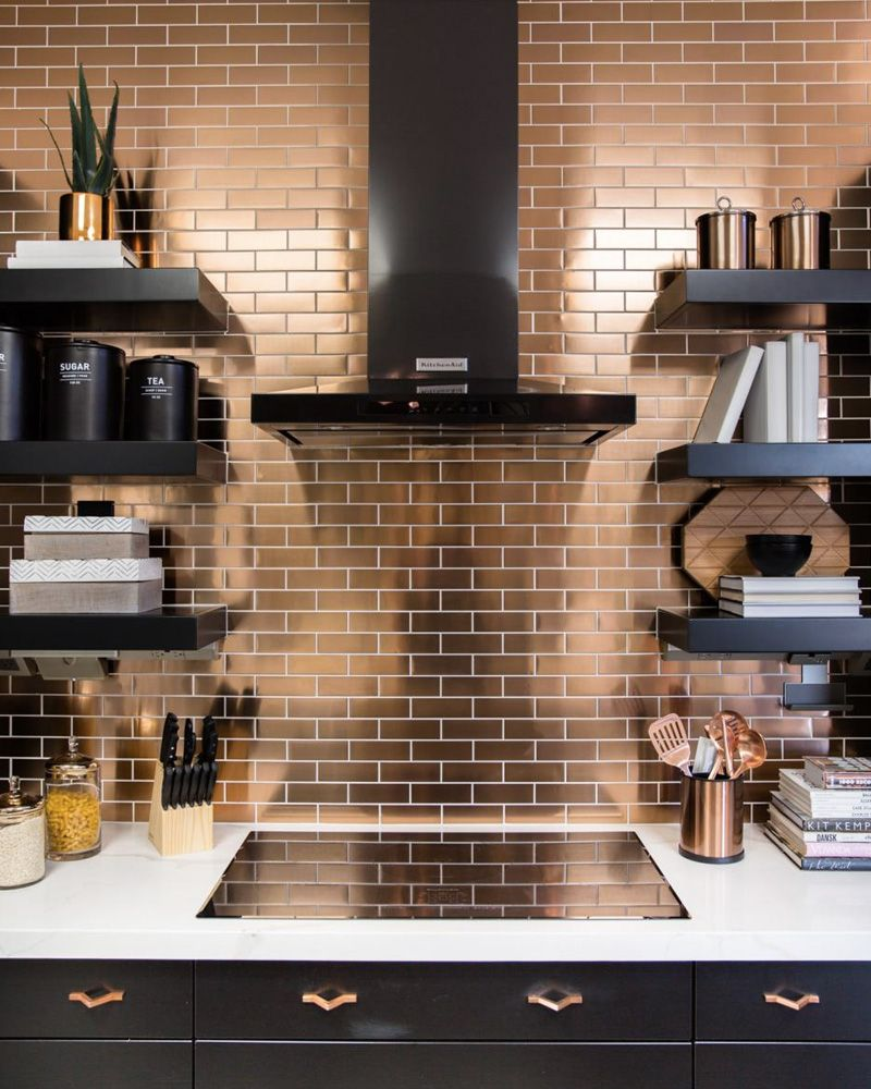 Une maison à la déco cuivrée  Shake My Blog  Dosseret cuisine