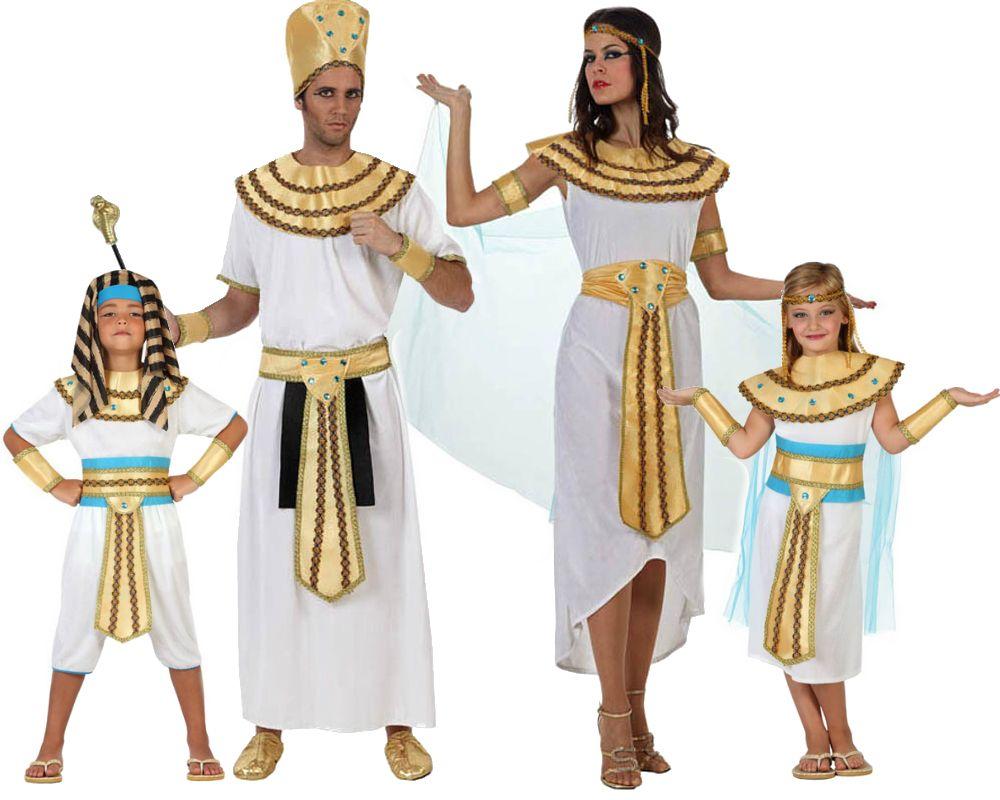 familia de egipcios disfraces carnaval