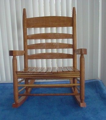 Super Wide Solid Oak Rocker When Josh Was Born Daddy Refinished A