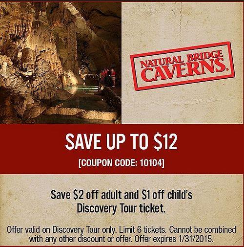 Free Natural Bridge Caverns Coupons Best Free Stuff Guide Natural Bridge Caverns Natural Bridge Coupons