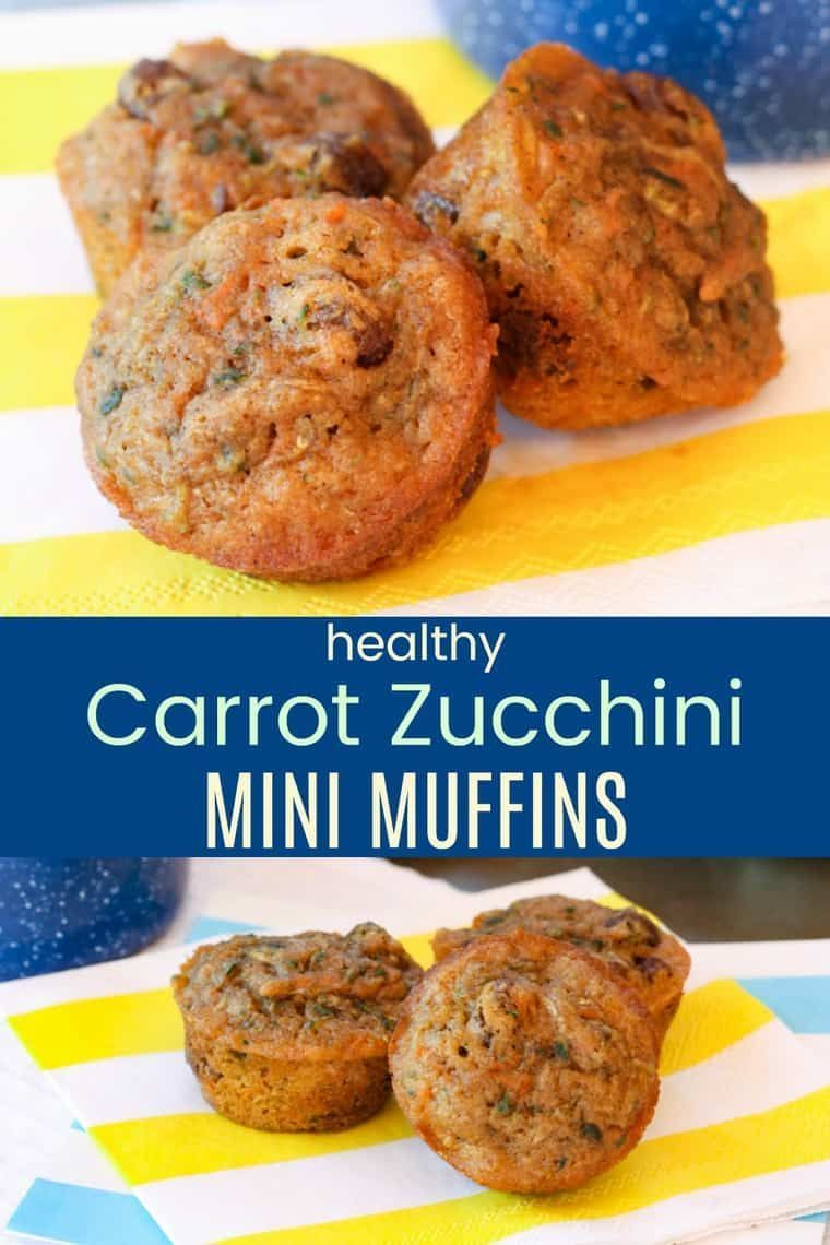Zucchini Mini Muffins - a kid-favorite muffin recipe that is moist and sweet, but packed with whole wheat and vegetables, and sweetened with just a touch of maple syrup. Perfect for breakfast or a healthy snack. One of the most popular recipes on the blog!
