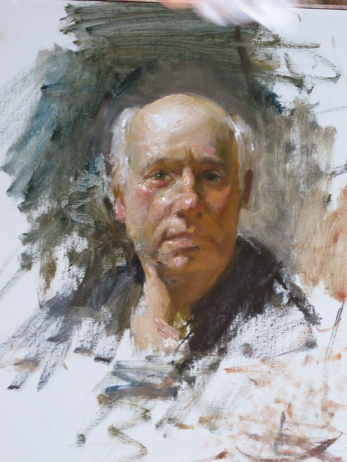 David Leffel Demo Portrait painting, Portraiture
