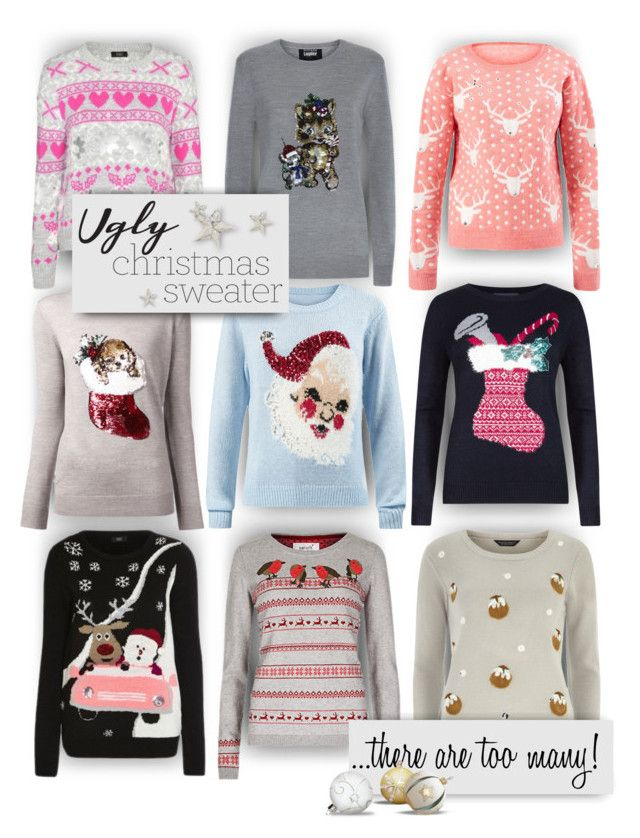 """Too many ugly sweaters!"" by alisa138 ❤ liked on Polyvore featuring M&S, Markus Lupfer, Dorothy Perkins and uglychristmassweater"