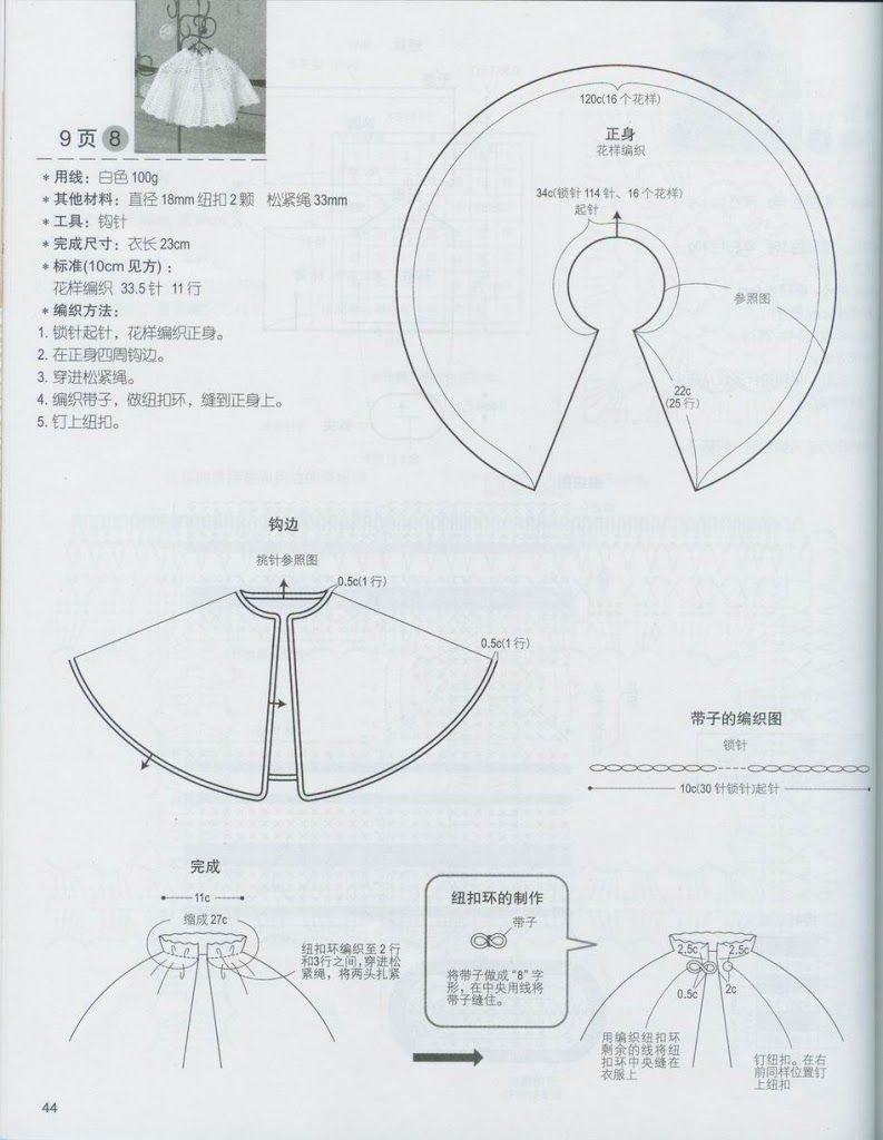 Picasa Web Albums. Crochet baby cape. Pattern diagram #1 | Crochet ...
