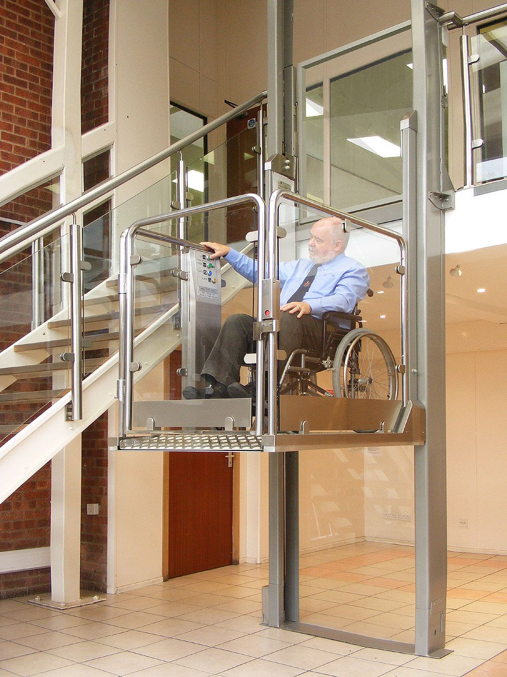 Platform lift for disability requirements 1st floor office for 1 story elevator