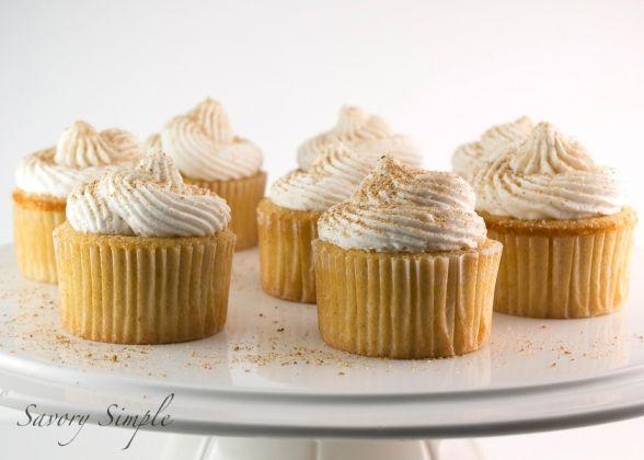 Eggnog Cupcakes with Rum Buttercream