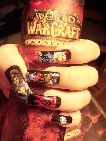 World Of Warcraft Nails For The Horde Nail Art Gallery